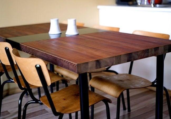 DIY Wood Dining Table