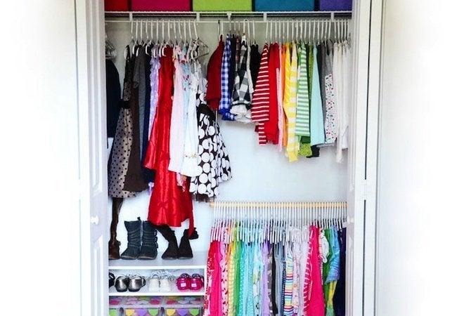 Small Closet Ideas - Dual Closet Rods