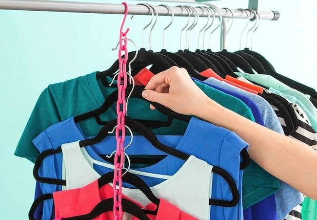 Small Closet Ideas - Plastic Storage Chains