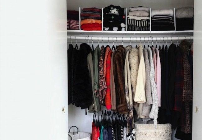 Small Closet Ideas - Shelf Dividers