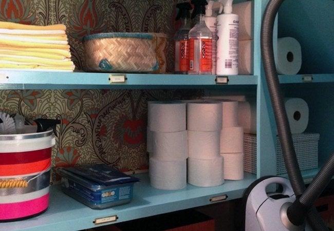 Small Closet Ideas - Shelf Labels