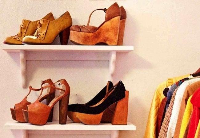 Small Closet Ideas - Shoe Shelf Storage