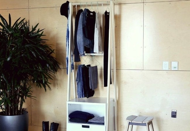 Small Closet Ideas - Standing Clothes Rack