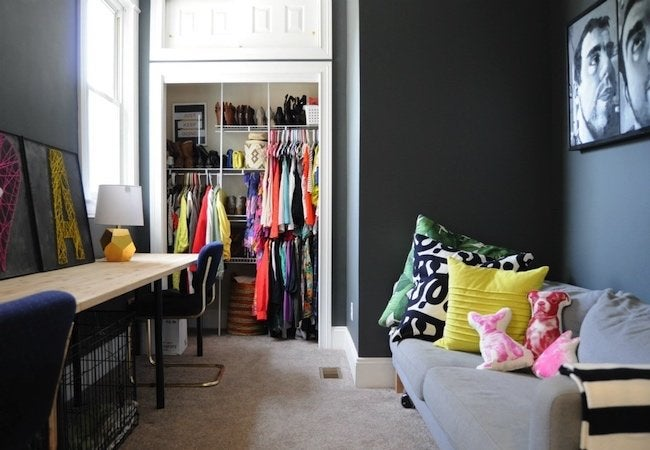 Small Closet Ideas - Track Shelving