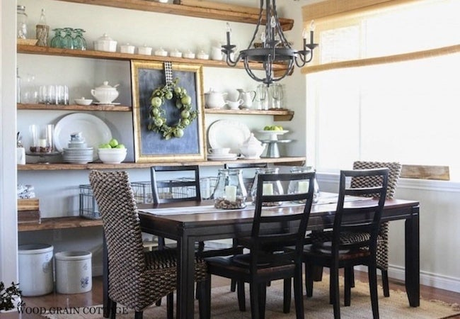 Small Dining Room Ideas - Open Shelves