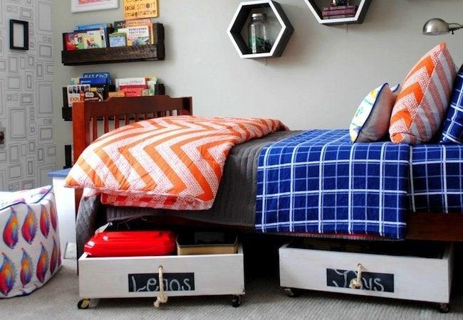 Toy Storage Ideas - Drawers Under Bed