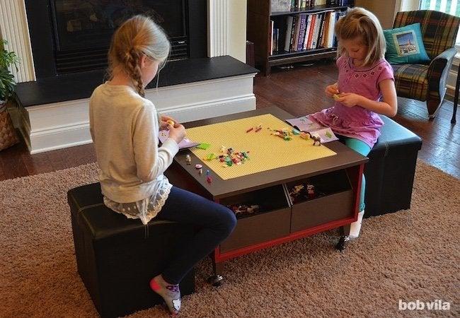 Toy Storage Ideas - Lego Table Organizer