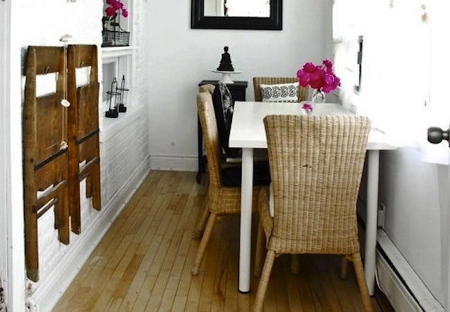 Small Dining Room Ideas - Wall Storage