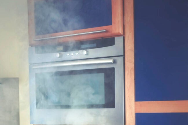 Self Cleaning Oven Beware of fumes