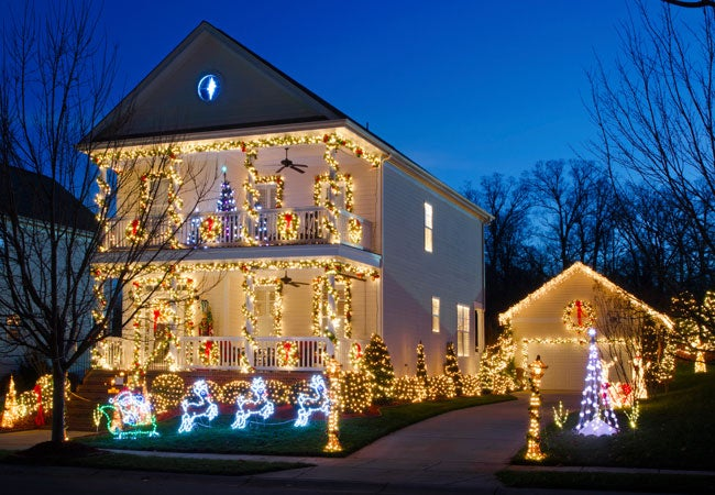How To: Hang Christmas Lights Outside