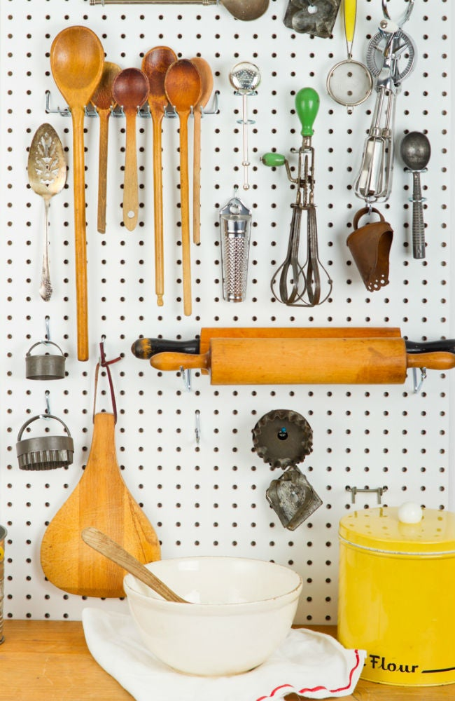 DIY a Removable Backsplash with Pegboard