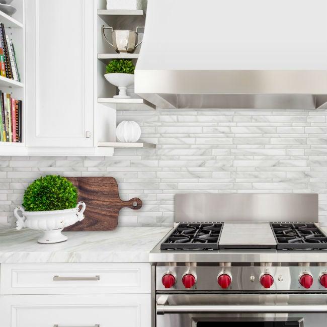DIY a Removable Backsplash with Smart Tiles