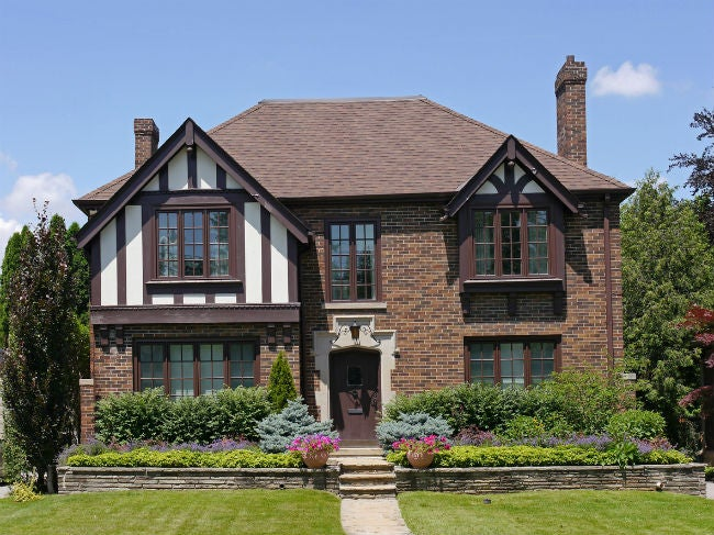 Tudor Style Brick Homes