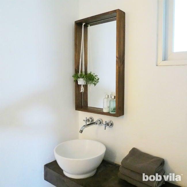 DIY Framed Mirror Plans