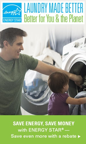 Need a Brilliant Way to Make Laundry Day Better? Think: Energy-Efficient Appliances
