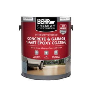The Best Garage Floor Paint Option: Behr Premium Epoxy Concrete and Garage Floor Paint