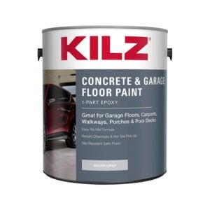 The Best Garage Floor Paint Option: KILZ 1-Part Epoxy Acrylic Garage Floor Paint Satin