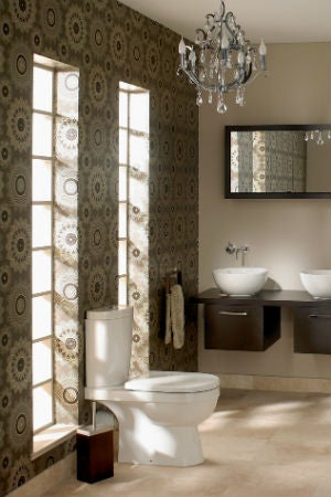 How to Make Wallpaper Work in the Bathroom
