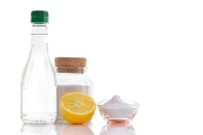 Mix Baking Soda, Vinegar, and Salt into a Homemade Rust Remover