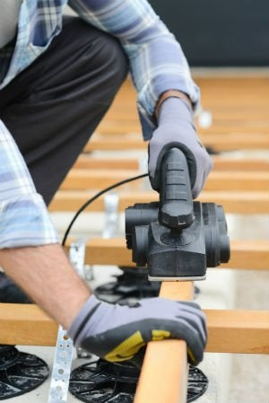 how to level a floor power tool