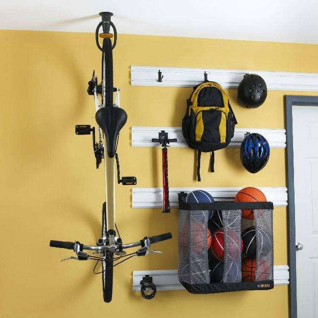How to Wall Mount a Bike with a Gladiator GarageWorks' Advanced Bike Storage