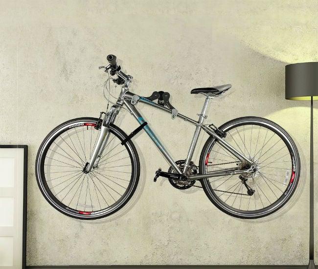 How to Wall Mount a Bike with an Ibera Horizontal Bicycle Bike Wall Hanger