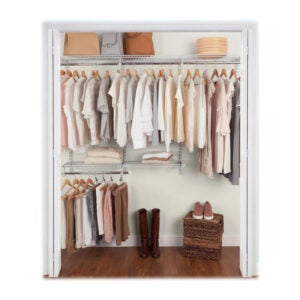 The Best Closet System Option: Rubbermaid Configurations Custom Metal Closet System