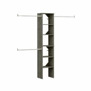 The Best Closet Systems Option: ClosetMaid Style Floor Mount 6-Shelf Closet Kit