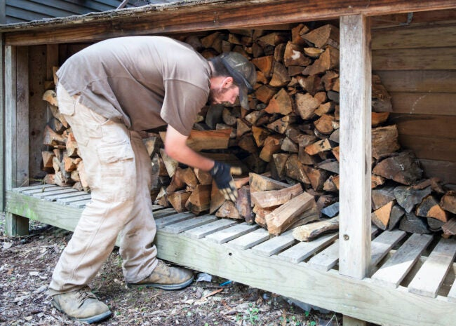 storing firewood for fireplace