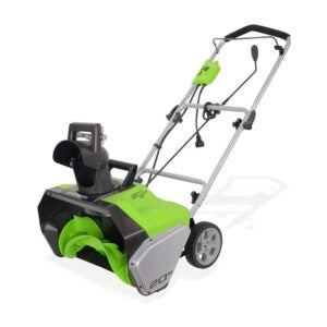 The Best Snow Blower Option: Greenworks 20-Inch 13-Amp Corded Snow Thrower 2600502