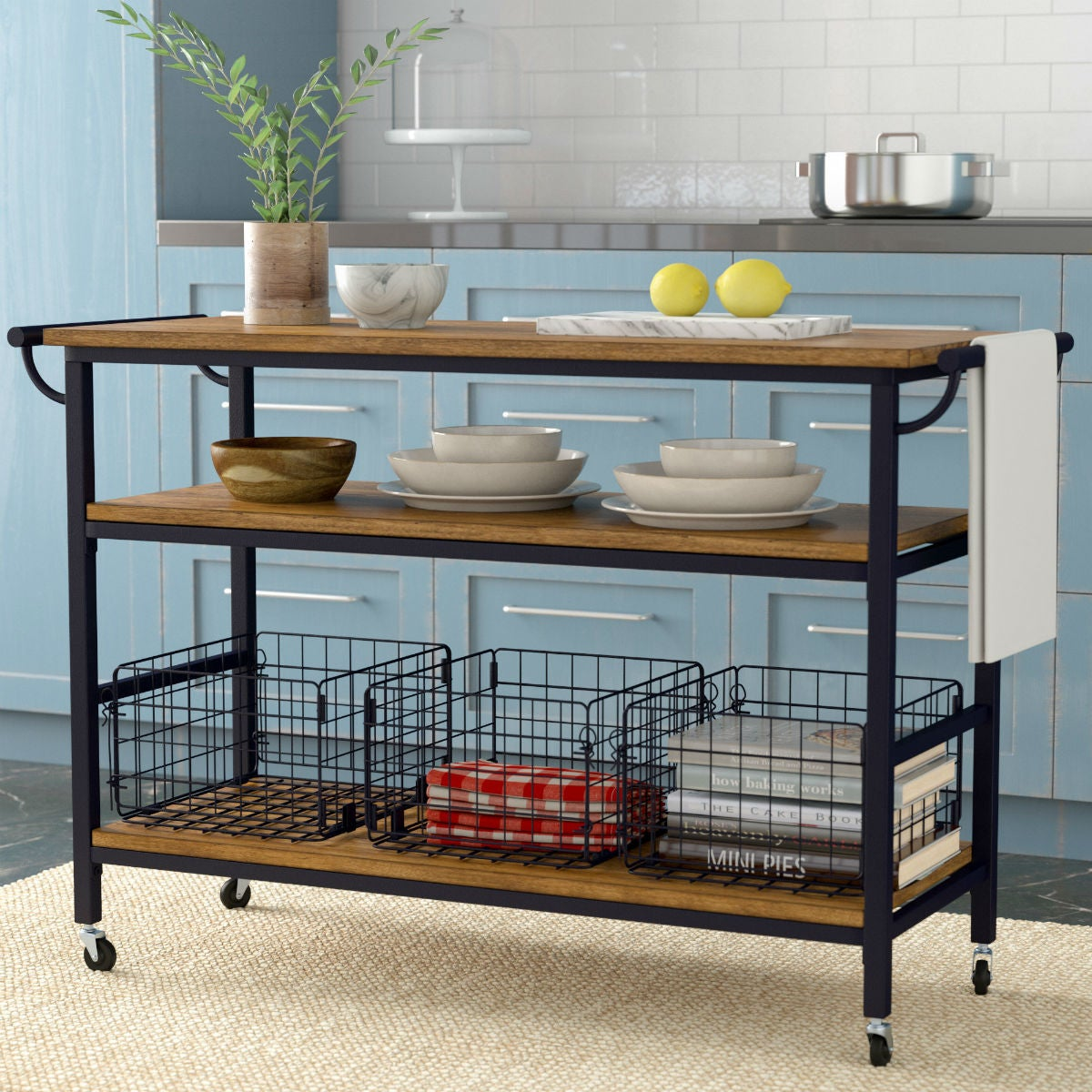 The Best Kitchen Island Size for Wheeled Options