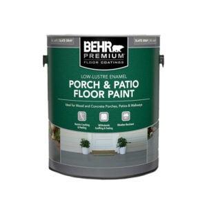 最好的外观涂料选项:Behr优质低光泽内部外部门廊涂料