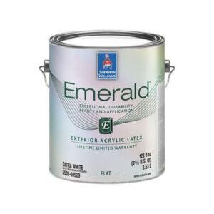 最好的外观涂料选项:Sherwin-Williams Emerald外部丙烯酸乳胶