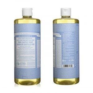 最好的天然清洁产品:布朗纳博士的液体卡斯蒂利肥皂