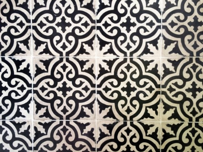 Install Cement Tile Floors with Light Color Grout