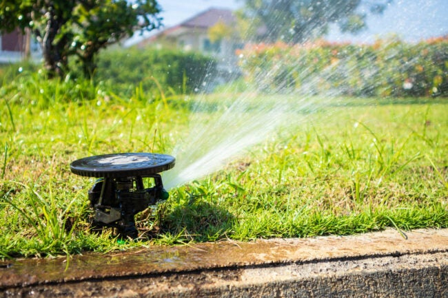 How Long to Water Lawn Figure the Water Output