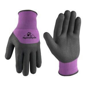 最好的园艺手套选择:Wells Lamont女装乳胶涂层握把冬季手套