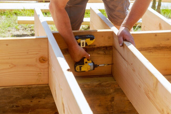 building a deck with impact driver