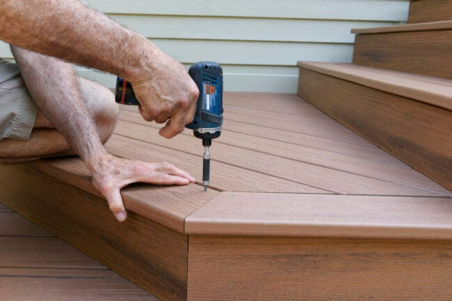 small impact driver building deck