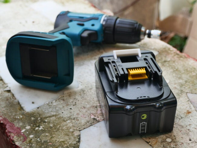 cordless drill driver with battery