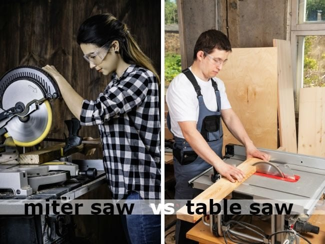 Miter Saw vs. Table Saw: 9 Key Differences to Know