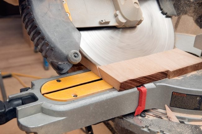 Miter Saw vs. Table Saw: The Miter Saw Makes Beveled Cuts More Easily