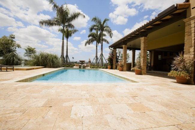 Using Travertine Tile Flooring Outside