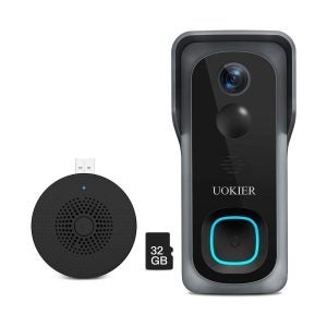 最佳门铃摄像头选择:UOKIER Wifi视频门铃摄像头