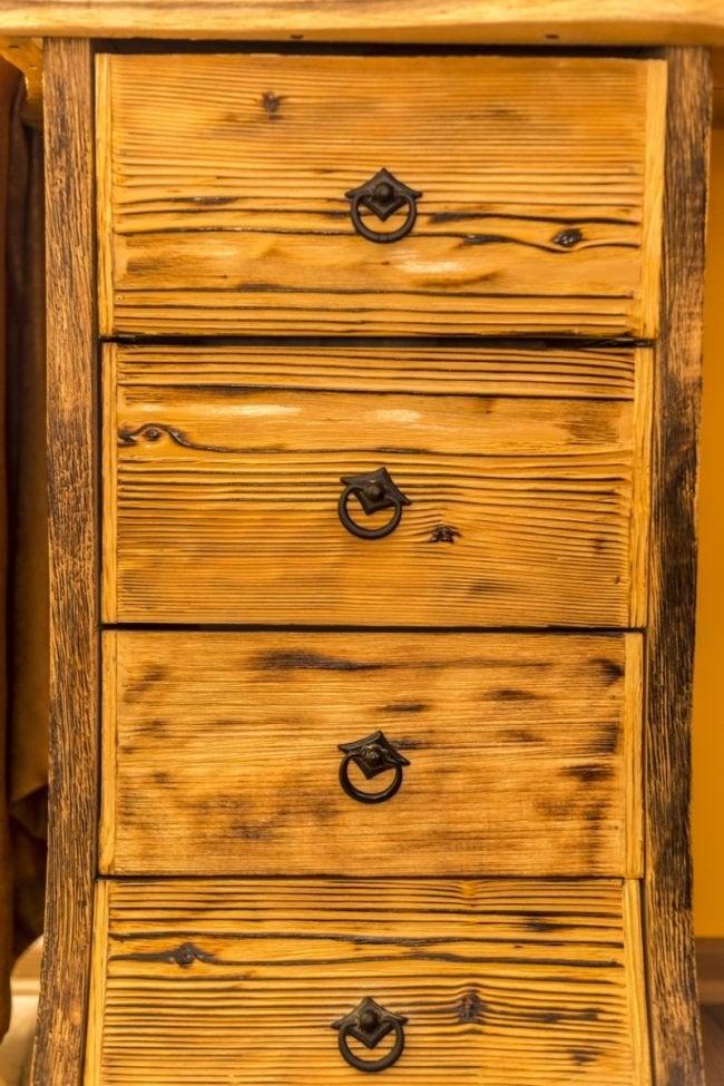 Burnt Wood Finish on a Dresser