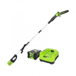 The Best Pole Saw Option: Greenworks PRO 10-Inch 80V Cordless Pole Saw