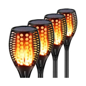 The Best Solar Path Lights Option: Aityvert Flickering Flame Solar Torches