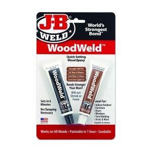 The Best Wood Glue Option J-B Weld WoodWeld Quick Setting Wood Epoxy Adhesive