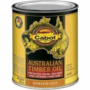 最佳甲板污渍选项:Cabot 140.0003400.005澳大利亚木材油