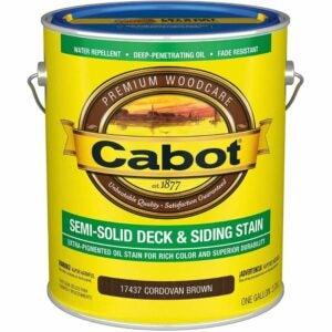 最佳甲板着色选项:Cabot 140.0017437.007半固体甲板着色
